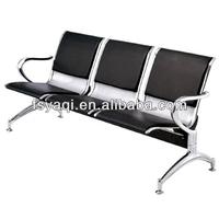 YA-25 Popular 3-seater PU cushion steel gang chair