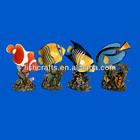 Polyresin fish miniature statue