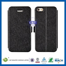 C&T Fashion pu leather wallet credit card flip Case Cover Skin For Apple iPhone 5 5G 5S