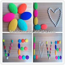 2014 food grade BPA free loose beads wholesale,silicone loose beads wholesale,loose pearl beads