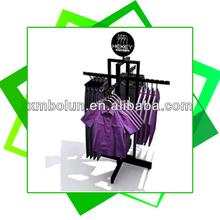 Fashionable rotary supermarket retail hang clothing display racks