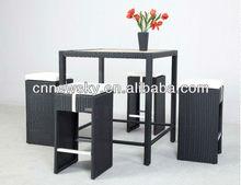 Rattan wicker outdoor bar set bar table