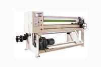Manual rewinding and cutting machine/film jumbo rolls cutting machine