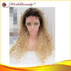 "100% human hair wig 28"" deep wave #2 into 613 full lace wig"