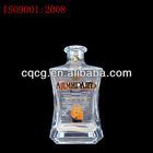 500ml square scotch whiskey glass bottle