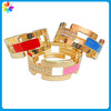Women Girl 18K Gold Plated Hollow Link Wrist Bracelet Bangle