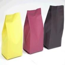 3 Color Paper Side Gusset Bag 200g Deep Brown