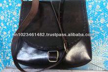 Handmade leather vintage messenger satchel bag
