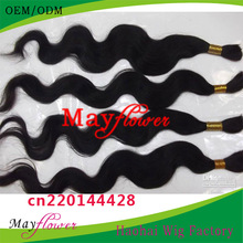 Hot sale india human hair bulk 6 piece silky straight natural black #1b can be dyed no shed