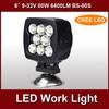 hotsale 9-32v 6 inch 80w 12v led truck work lights BS-80S