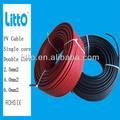 Solar pv cable eléctrico con el certificado tuv en tamaño 2.5/4/6mm2( 10/12/14awg)