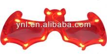 Party Plastic Bat Shape Glasses W flashing Led Light Halloween Accessories