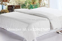 satin strip and satin cotton bed sheets, hotel bedding set, bed sheet set