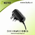 Montagem em parede tipo 5v 1.5a adaptador de energia ac 100-240v entrada