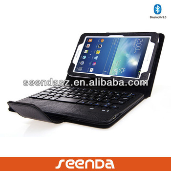 Bluetooth Keyboard Case for Samsung Tab3 Lite 7 inch/Tablet Case for SM-T110 and SM-T111