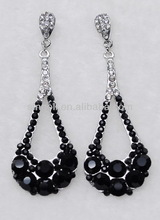 Swing earring black beads earring