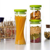 Custom Canning Jars,food grade storage container,glass jar with plastic lid for snacks