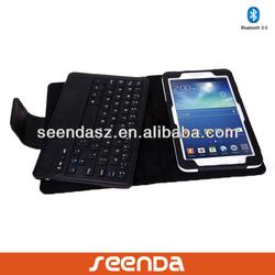 Detachable Keyboard Case for Samsung Tab3 Lite T110/T111 /Caja del teclado de Bluetooth para la tableta de Samsung