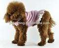 Alta calidad barato verano de ropa para mascotas de algodón vestido del animal doméstico