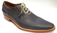 Giardini leather blue shoes