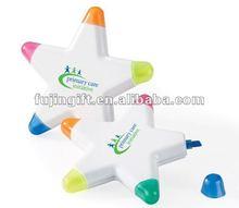 Star shape highlights WCA for celebration 5*1 highlighter pen/marker pen