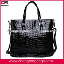 2014 Alibaba China Wholesale Fashion Crocodile Leather Handbags / shouder bags