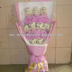 2014 promotional plush toy bouquet wedding decoration