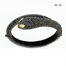 Rose cut Diamond Snake Bracelet
