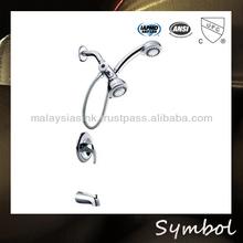 Bathroom wall mounted bathtub whirlpool faucet