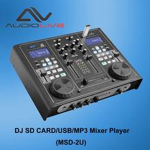 MSD-2U factory price Professional Audio DJ SD CARD/USB/MP3 Mixer Player