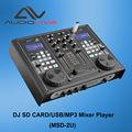 Profesional de audio dj tarjeta sd/usb/mp3 mezclador de jugador