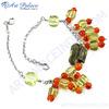 High Quality Lemon Quartz & Red Onyx Silver Bracelet, 925 Sterling Silver Jewelry