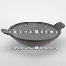 Die cast stone sauce pot porcelain enamel cookware