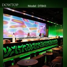 Light up LED Modern Bar Furniture/Super Long Bar Counter/Hotel Bar Table