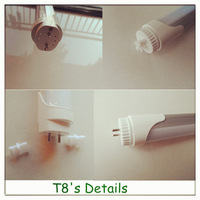 ballast compatible clear/striped 20w led t8 tube8 japanese