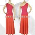 2014 mais recente de um ombro long lace laranja e vermelho vestido h293-1