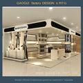 2014 personalizado novo luxo exposição de varejo loja de calçados decoração/decoração da loja stand/desenhos sapateira de madeira vitrine