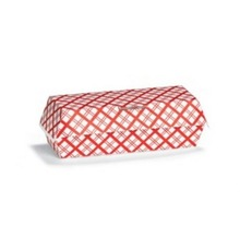 Disposable hot dog paper packaging box