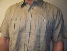 Men's half sleeve Linen shirt