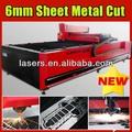 Laser máquina de corte de metal da folha, bronze, alumínio, aço inoxidável