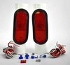 12V&24V Universal Waterproof Trailer Hitch Lighting Kit Tail Light Wiring Harness