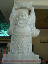 Standing Happy Buddha stone sculpture