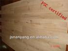 FSC certified Solid surface Oak plank 3-ply 1-strip wood parquet