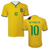 Brazil Shirt NEYMAR JR #10 Paypal Accept Newest 2014 Brazil Shirt Football,Mix Order Free Shipping 2014 Brazil Soccer Jersey
