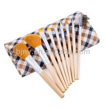 factory cosmetic brush bag 9pcs in 1 set