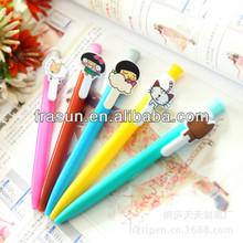 Fashion Design Multicolor Print Animal On Clip School Novelty Plastic Pen