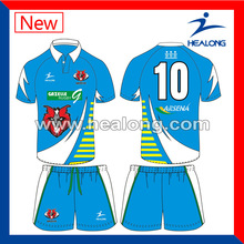 colorful summer rugby shirts in high quality