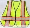 Hi vis reflective vest, two-tone safety work vest, safety clothing
