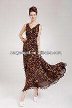 Fashion Leopard Print Korean Style Chiffon Summer Maxi Dress R8088