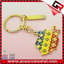 Design classical nice key chain soft enamel key holder